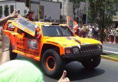 Der Hummer von Robby Gordon auf der Dakar in Lima _ Peru