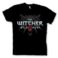 Camiseta logo The Witcher 3: Wild Hunt, negra Camiseta con la imagen del logo perteneciente a la tercera entrega de la saga de videojuegos The Witcher.