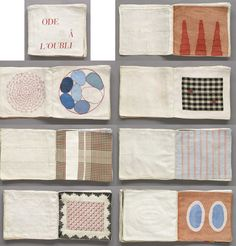 Louise Bourgeois, Fabric book with hand-embroidery and lithographed cover