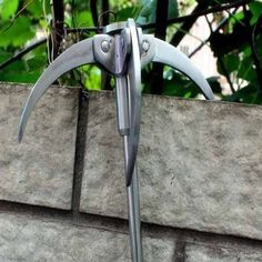 Handmade Steel Carabiner Grappling Hook:: Made out of solid steel, this 4 arm grappling hook is built to last a lifetime. It comes in really handy when scaling those pesky walls that your neighbor keeps building taller and taller (as if he's trying for some reason to keep you out). Or maybe to help get a new beautiful view … www.gonnawannagetit.com