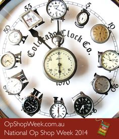 When treasure hunting in your local op shop, what can you do with a bunch of old watches and some creative flair? Make something timeless and cool!