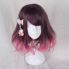 Note Headwear Is Not Included SKU Style Types Lolita Wig Material Heat Resistant Fiber Color Corsline Mixed Ombre Length 40 cm Lead Time Days Weight(kg) kg Kawaii Hairstyles, Pretty Hairstyles, Wig Hairstyles, Cosplay Hair, Cosplay Wigs, Kawaii Wigs, Lolita Hair, Mode Kawaii, Anime Wigs