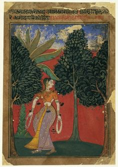 Kamoda Ragini, Page from a Ragamala Series, ca. 1605-1610. Opaque watercolor on paper, sheet