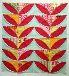 Mod Olives Quilt Along... Made with the Quick Curve Ruler.  Wholesale from United Notions
