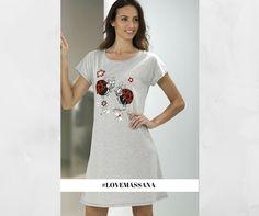 Camisón ideal para dormir fresquita! #massana #fashion #camison #pijama #summer #women #grey