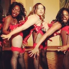 King Micah dances burlesque with Urban Burlesque dancers