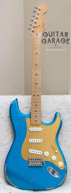 1990 Fender Japan Lake Placid Blue Stratocaster Road Worn