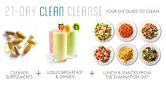 Clean living starts with the 21-day Clean Cleanse! Promised to make you feel 100% healthier by the end of the three weeks if you follow the guide.