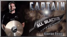 Captain Kieran Read of the New Zealand All Blacks Rugby Team - Poster created by Gordon Tunstall using Adobe Photoshop - 2016