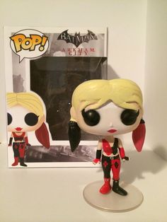 funko pop harley quinn | Custom Harley Quinn (Arkham City style) Funko Pop! with box: Cities ...