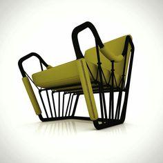 Wing Chair Design ▶ Armchair Design  #serimkanmaz #fun #armchair #armchairdesign #mydesign #designer #design #blackmetal #fabri  #energeticdesign #furnituredesigner #dynamicdesign #style #conceptdesign #form #style #interior #decoration #bergere berger #disegno #conception