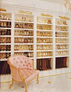 Mariah Carey's shoe closet. Oh. My. God.
