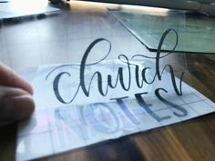 How to make a hand lettered vinyl decal using the Cricut Explore Air 2 | Step by step tutorial at www.brittanyluiz.com
