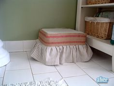 footstool with webbing