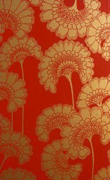 Papier peint Japanese Floral - Florence Broadhurst