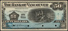 Our guide has value and price information for all bank notes printed by The Bank of Vancouver. Contact us for a free appraisal of your old money. Vancouver, Canadian Coins, Old Money, Dollar, Old Coins, Ephemera, Christmas Vases, Prime Numbers, Stamps