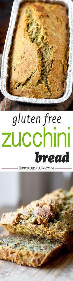 Gluten Free Zucchini Bread - This is an easy recipe for Gluten Free Zucchini Bread with a honey orange yogurt sauce that's the perfect balance between sweet and sour! We like this for Easter Brunch! G (Bobs Red Mill Gluten Free Recipes) Patisserie Sans Gluten, Dessert Sans Gluten, Gluten Free Desserts, Gluten Free Zucchini Bread, Gluten Free Banana, Zucchini Loaf, Recipe Zucchini, Gf Recipes, Gluten Free Recipes