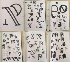 Monogram schetsen