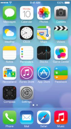 Meet Apple's iOS 7. Definitely not the same as iOS 6.