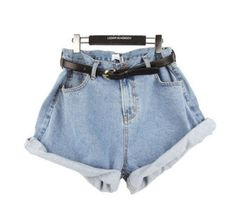 Summer Women Girl High Waisted Oversize Crimping Boyfriend Jeans Shorts Pants in Clothing, Shoes & Accessories, Women's Clothing, Shorts   eBay