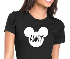 Mickey Mouse Aunt  Tee Shirt funny shirt.Mom Shirt by ForeverTees1