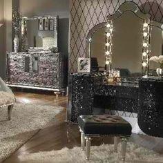 Glitz makeup room