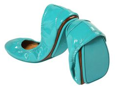 Tiek Blue Patent - Best Flats on the Planet....Comfortable from the second you put them on!