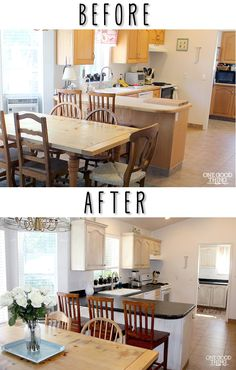 Kitchen Cabinet and Countertop Transformation In A Box!