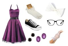 """""""Doll"""" by hai-i-love-oreos on Polyvore featuring Converse, Ray-Ban and Kabella Jewelry"""