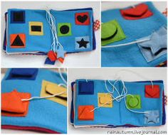 Quiet book made from felt-and it's No-Sew! great ideas, lots of patterns