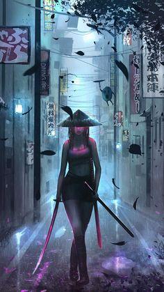 Samurai Girl - iPhone Wallpapers