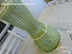 Capa para Liquidificador em Crochê Elegance - Receita de Croche com o Passo a Passo no Link http://www.aprendendocroche.com/receitas-de-croche/video-aula.asp?resid=854&tree=10