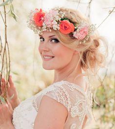 Bridal Flower Wreath / Wedding Flower Crown