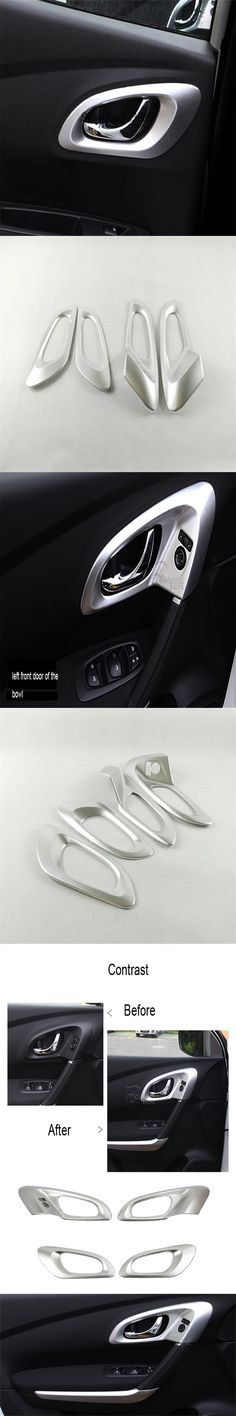 ABS Chrome Interior Door Handle bowl cover trim For LHD RENAULT KADJAR 2016 Car Styling Accessories 4pcs/set