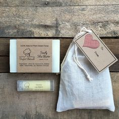 Soap Gift Set Soap & lip balm gift bag by TreefortNaturals
