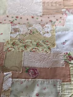 A Slow Stitching Panel - taking your time with a pretty fabric craft Fabric Art, Fabric Crafts, Cathedral Window Patchwork, Hardanger Embroidery, Fabric Journals, French Fabric, Sewing Stitches, Blanket Stitch, Hand Quilting