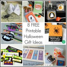 Printable Halloween Gift Ideas for Kids -- give out something special this Halloween by printing these fun ideas for FREE!