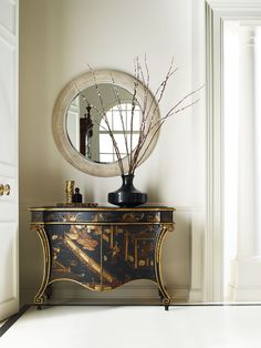 Chippendale chinoiserie decorated with a scene of wildlife and pagodas   Stately Homes   Baker Furniture
