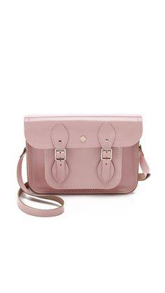 Blush pink patent Cambridge Satchel bag