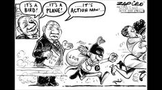Zuma - Jacob Zuma as Action Man published in The Times on 15 Jan 2013 Bubble Soccer, Jacob Zuma, Presidents, Action, African, Comics, Cartoons, Memes, Youtube