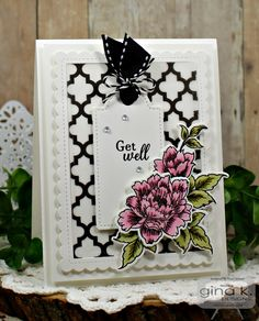 GKD February 2018 Release.  Card by Sheri Gilson.  Features Stippled Flowers stamp set illustrated by Alicia Krupsky for Gina K. Designs. http://www.shop.ginakdesigns.com/product.sc?productId=3153&categoryId=16