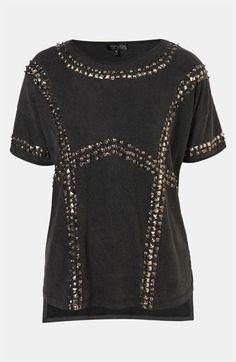 Topshop 'Studded Harness' Tee #Nordstrom #britishstyle