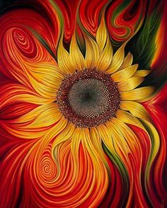 This sunflower would make an awesome tattoo!!