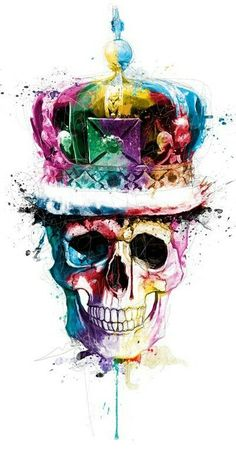 30 Mind-Blowing and Colorful Paintings by famous French artist Patrice Murciano Art Pop, Murciano Art, Arte Bob Marley, Patrice Murciano, Totenkopf Tattoos, Skull Island, Skull Wallpaper, Skulls And Roses, Arte Horror