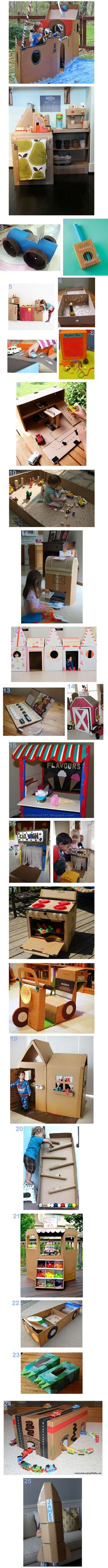 Kinder bastel Ideen für große Kartons