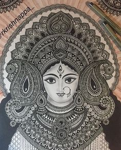 Super Ideas For Tattoo Nature Arm Awesome Art Drawings Simple, Art Painting, Indian Art Paintings, Art Drawings, Madhubani Art, Mandala Design Art, Ganesha Art, Art, Pencil Art Drawings