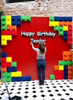 Ideas salon - New Ideas Lego Themed Party, Lego Birthday Party, 7th Birthday, Festa Ninja Go, Lego Classroom Theme, Lego Party Decorations, Bolo Lego, Lego Baby, Ninjago Party