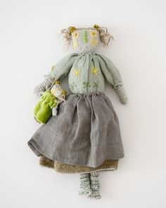 SOPHIE DIGARD OEILLETTE リネンクロシェドール WITH DOLL(WEEDS グレースカート)#編みぐるみ #ソフィーディガール