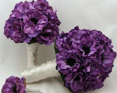 Popular items for anemone bouquet on Etsy