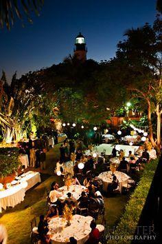 Outdoor reception at Hemingway house; heaven.